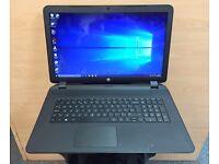 "Hp 17"" Fast QuadCore HD Laptop, 1000GB, 8GB, HDMi, Win 10, Microsoft office,Excellent Condition"