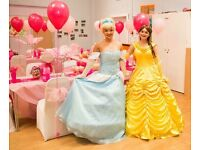 Princess Parties - Belle, Moana, Cinderella, Ariel, Jasmine, Barbie, Merida, Tinker belle, Alice