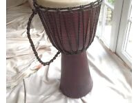 Large djembe tribal drum in excellent condition