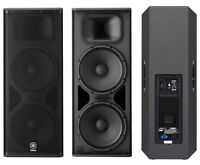 Yamaha DSR215 2x15 Powered PA Speakers 1300 Watts Each NEW