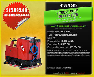 Sweepers & Scrubbers - Priced Right!