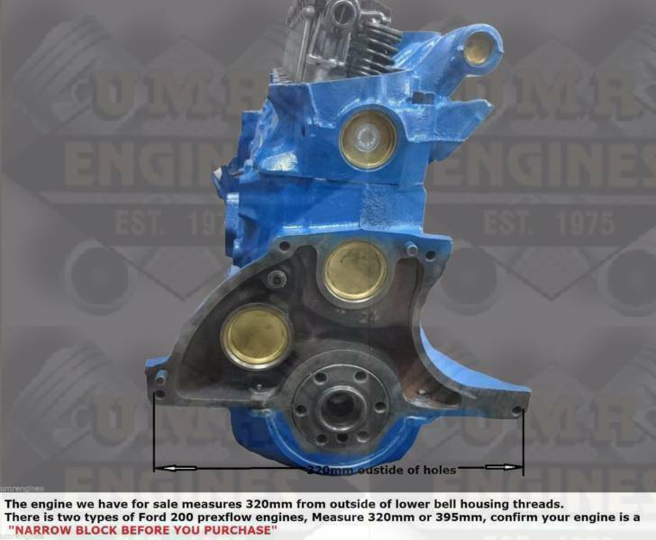 FORD 170 c i - 6 Cylinder fully Reconditioned Exchange Long