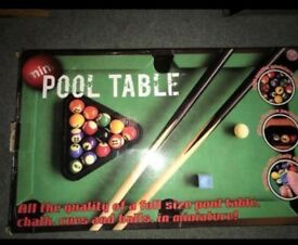Pool Table Only Used Once Or Twice In Newcastle Tyne And Wear - Used mini pool table