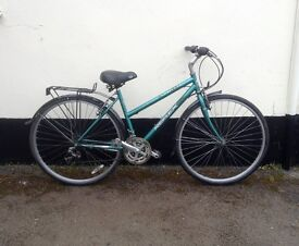 "LADIES HYBRID BIKE 18"" FRAME £65"
