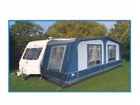 Pyramid Corsican Full All Seasons Awning. All fixings & Curtains Size 850-900 cm