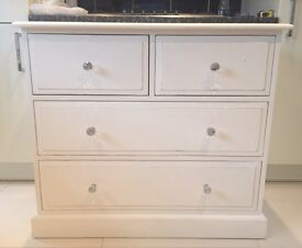 solid pine dovetail chest of drawers shabby chic