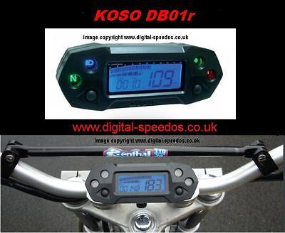 Digital Speedo Speedometer Gauge KOSO DB01r inc universal cable drive adapter