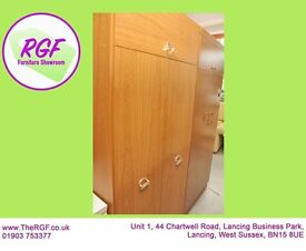 SALE NOW ON!! Wardrobe With Hanging Rail & Top Cupboard - Can Deliver For £19