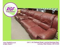 SALE NOW ON!! 2 + 3 Seater Faux Leather Sofas - Can Deliver For £19