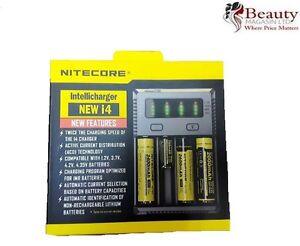 NiteCore i4 Intellicharge Universal Battery Charger CR123A 26650 18650 AA/AAA UK