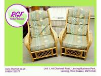 SALE NOW ON!! - Wicker Conservatory Armchair - 2 Available - Can Deliver For £19