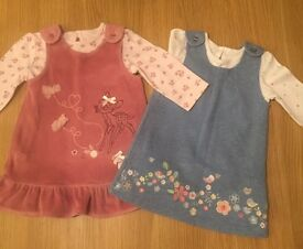 Two gorgeous pinafore dresses