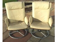 Faux Leather Recliner Chairs
