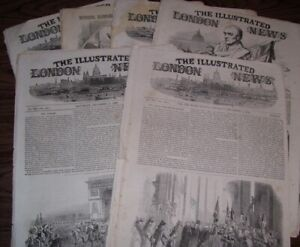 4 Issues of The ILLUSTRATED LONDON NEWS  December, 1852