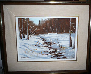 "Listed,Heinz V. Pundleider ""Creek In Merivale"" Original Oil 1978 Stratford Kitchener Area image 1"