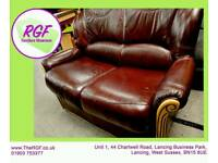 SALE NOW ON!! - 2 Seater Leather Sofa - Can Deliver For £19