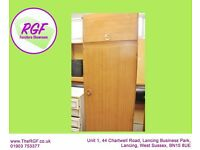 SALE NOW ON!! Single Wardrobe With Hanging Rail & Top Cupboard - Can Deliver For £19