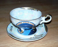 FOOTED CUPS & SAUCERS