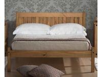 Brand new 4ft ('3/4') pine bed frame incl mattress