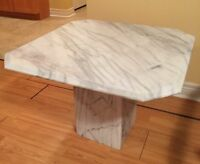 Matching Coffee Table and 2 End Tables - SOLID MARBLE