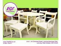 SALE NOW ON!! - Dining Table and 6 Chairs - Great Restoration Project -Can Deliver For £19