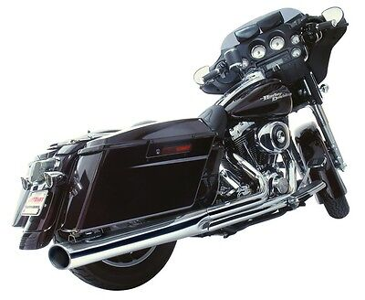 Harley Road King Electra Street Glide 2 into 1 Exhaust Long Style