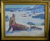 """ORVAL CLINTON MADDEN PAINTING - CANADIAN ARTIST 25""""X20"""" NAPANEE"""
