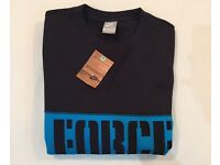 Brand new men's unworn Nike sweatshirt black/blue (size medium)
