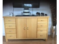 Sideboard and sideboard unit