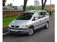 2001 Vauxhall Zafira Comfort 1.8 7 Seater Low Mileage Service History 12 Months MOT