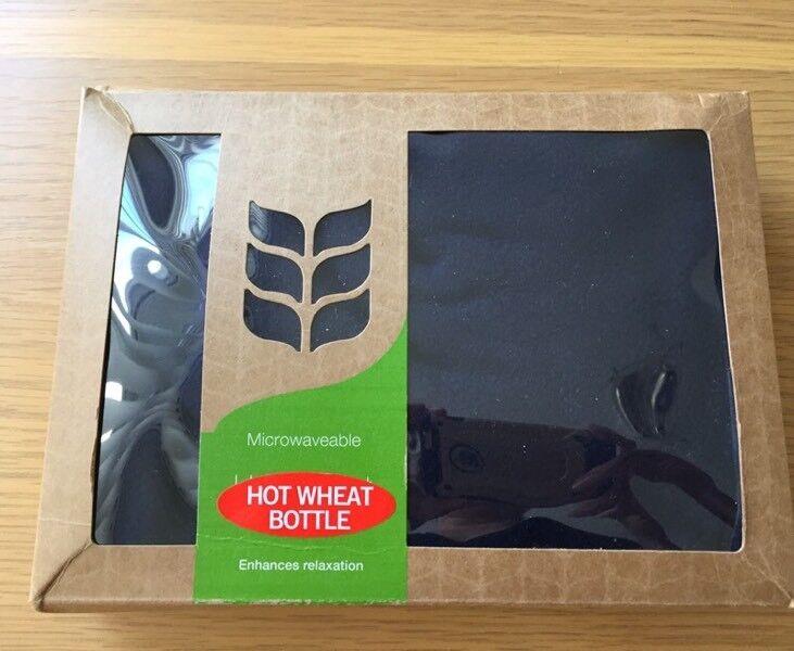 Brand new hot wheat bottle