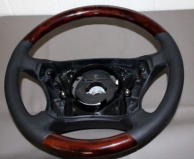 Lenkrad Airbaglenkrad Wurzelholz Leder Mercedes W220  C215 W215 CL