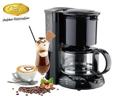 Kaffeemaschine 4-6  Tassen - 12V mit Warmhalteplatte und abnehmbaren Wassertank