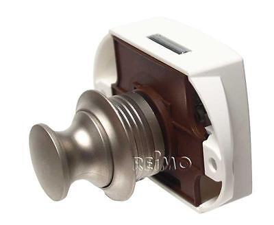 Möbelverschluss Push Lock silber, einseitige Betätigung