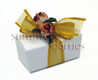 Double Truffle Favor Boxes - White (Set of 10)