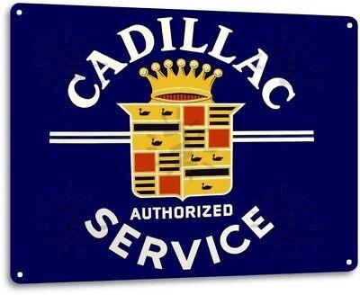 Cadillac Retro Gasoline vintage reproduction Garage Sign