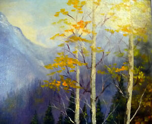 "Original Oil, Dorothy Hunter (Adams) ""Landscape with Mountains"" Stratford Kitchener Area image 6"