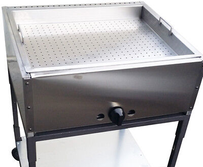 Taco Cart. 27 Double Steam Table With Perforated Pan. Made In Usa. Ekono Brand.