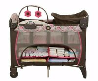 Graco pack 'n play playard, with newborn napper station DLX