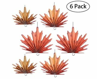 Tinksky Thanksgiving Party Decoration Autumn Leaves Hanging Fans Party Favor
