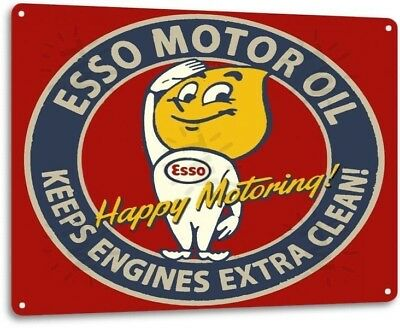 Esso Motor Oil Garage Motor Gas Station Auto Retro Wall Decor Metal Tin Sign