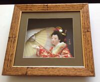 Hand painted porcelain Geisha