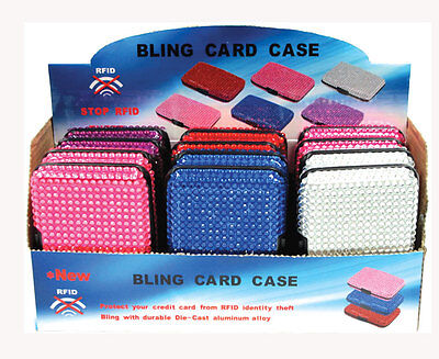 Wholesale Lot RFID Blocking BLING Credit Card Case Wallet Good Mother's Day Gift