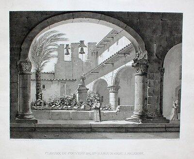 Santa Maria di Gesù Palermo Kloster Kirche Mönch Kreuzgang Sizilien Glocke Palme