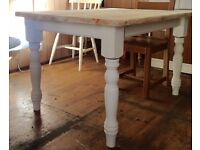 Solid pine farmhouse table