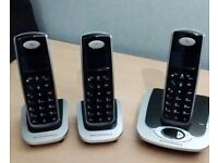 Motorola triple pack cordless home phones with answering machine