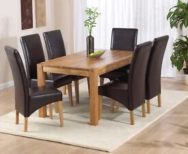 Oak Dining Tables with Chairs