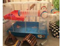 Ferplast hamster cage and setup