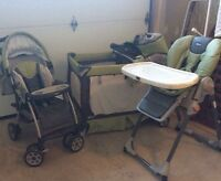 Chicco Baby stroller / high chair / play yard