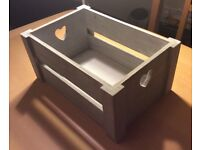 Storage or display box - shabby chic with heart cutouts